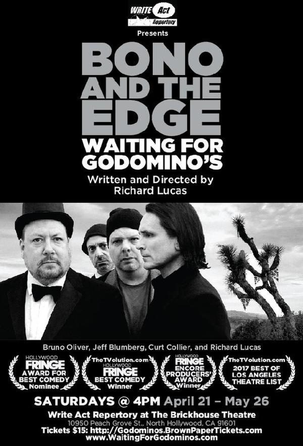 """Jeff Blumberg"",""Bono and The Edge Waiting for Godomino's"",""Waiting for Godomino's"""